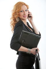 Beautiful blond russian caucasian businesswoman in her twenties