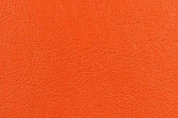 Bright Orange Artificial Leather Texture
