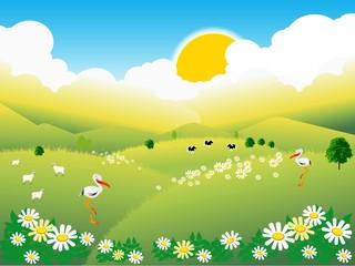 wiosenna wieś
