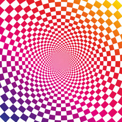 Tuinposter Psychedelic Illusion background