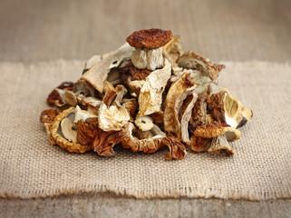 pile of dried mushrooms