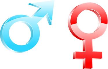 Obraz symbole płci - fototapety do salonu