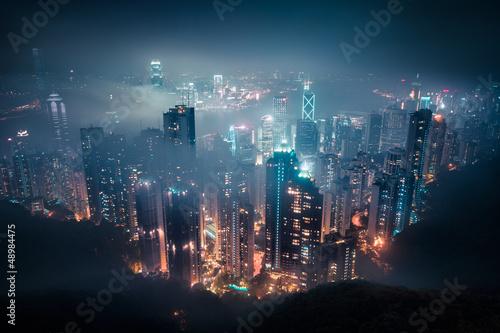 страны архитектура ночь Гонконг  № 1481739  скачать
