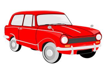 Mały samochód w stylu retro