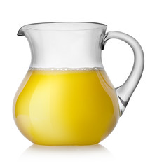 Orange juice in a jug