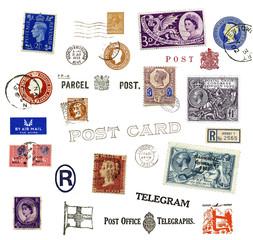 Briefmarken und Poststempel aus Großbritannien
