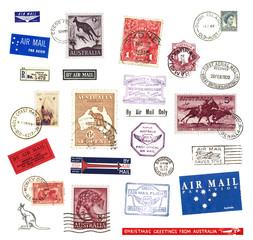Briefmarken und Poststempel aus Australien