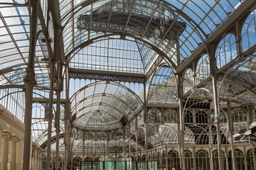 Crystal Palace in Parque del Retiro, Madrid, Spain