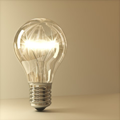 lampada ad incandescenza 3D