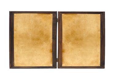 Vintage frames isolated on white