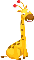 illustration of isolated giraffe vector