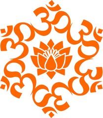 OM - AUM - Lotus Mandala -Buddhistisches Symbol