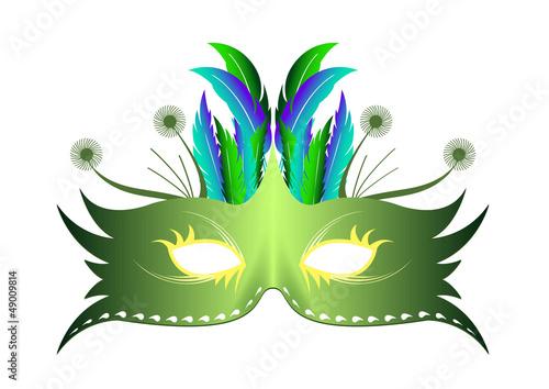 Masque plume rio vert carnaval fichier vectoriel libre de droits sur la banque d 39 images - Masque de carnaval a imprimer ...