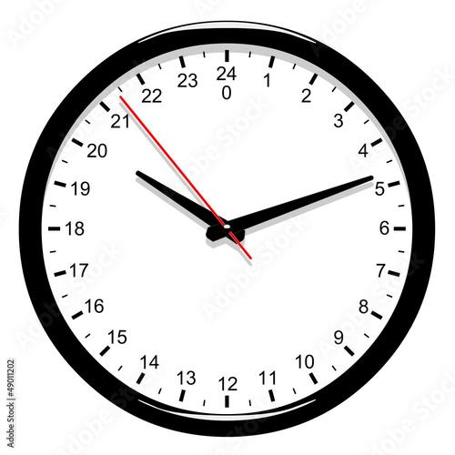 horloge 24 heures fichier vectoriel libre de droits sur la banque d 39 images image. Black Bedroom Furniture Sets. Home Design Ideas
