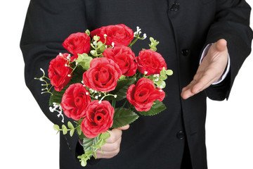 Take a bouquet of roses