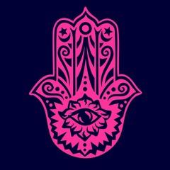 Hamsa - Hand der Fatima - Schutz Amulett, Symbol Glück und Kraft