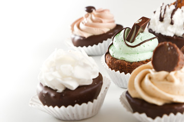 assortment of brownie bites