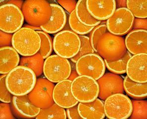 Fototapete - Pomarańcze-połówki