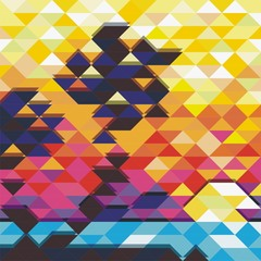 Poster ZigZag colorful vector background