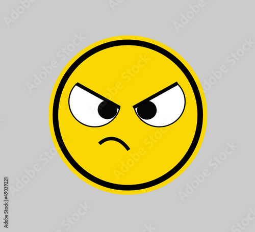 """Frustrated - Smiley Face"" Stock image and royalty-free ..."