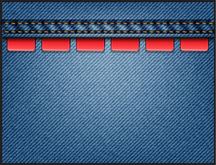 Vector Jeans background, With Discount badges, labels, tags