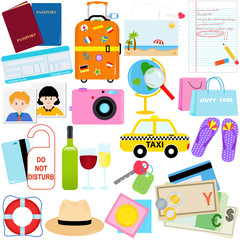 Vacation - Travel vector icons / symbol collection