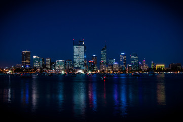 Perth city in night