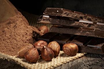 chocolate hazelnut  cocoa sweet food