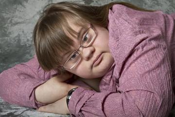 Mädchen mit Behinderung