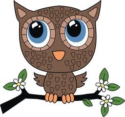 a brown little sweet owl