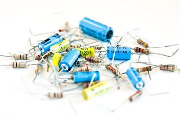 resistors on white background