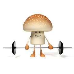 3d rendered illustration of a mushroom character