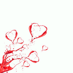 heart shape made of liquit splashes