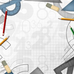 school math drawing tools background