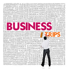 Business word cloud for business and finance concept, Business T