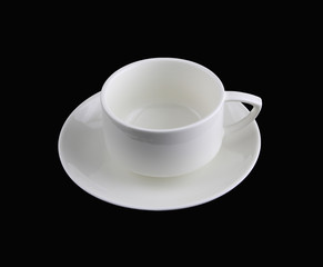 White cup of coffee with Clipping Path
