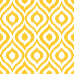Seamless retro background in modern ikat pattern