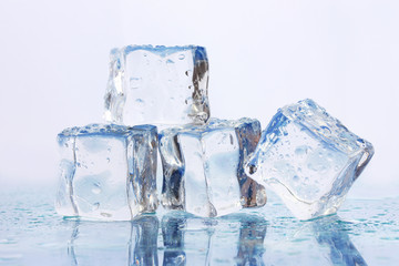 Ice on light background