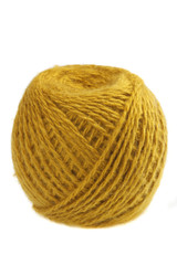 Ball of yellow yarn