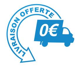 Fototapete - livraison offerte sur symbole validé bleu