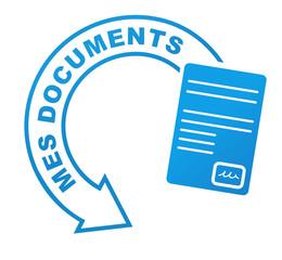 mes documents sur symbole validé bleu