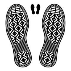 vector clean shoe imprints