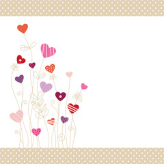 Heartflower Background Pinkmix Dots Border