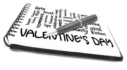 valentine's day word cloud