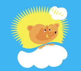 Funny hedgehog - sun