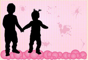 Childrens - grunge background