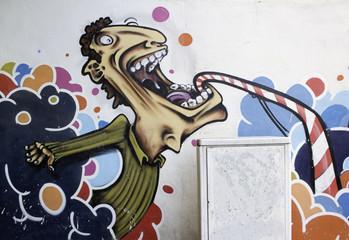 Graffiti of young