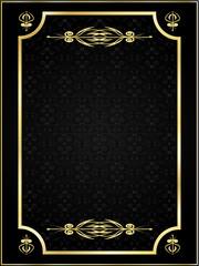 ramka złota na czarnym tle