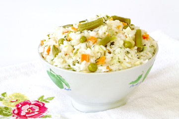 Miska ryżuz warzywami