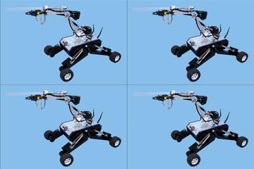 Obraz Robot badawczo naukowy 4 sztuki. - fototapety do salonu